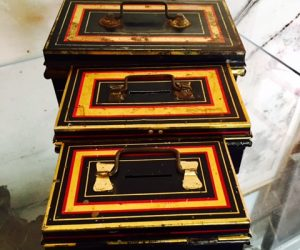 Set of 3 Vintage Portable Banks