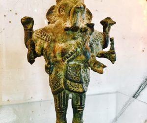 Vintage Ganesh Metal Sculpture