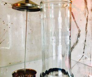 Vintage Barber's Barbicide Jar