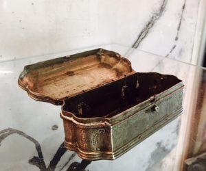 Antique Metal Jewellery Box