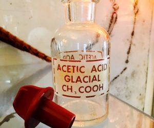 Antique Glass Chemical Pyrex Bottle