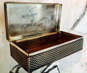 Vintage Metal Jewellery Box