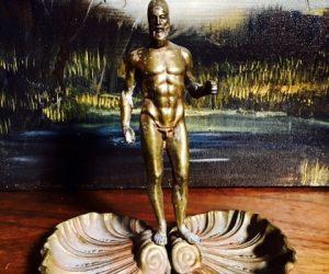 Vintage Poseidon Metal Sculpture
