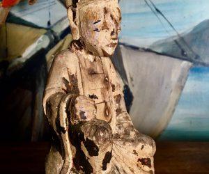 Antique Religious Wood Sculpture