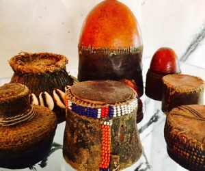 Collection of Antique African Lids
