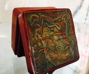 Vintage Leather Jewellery Box
