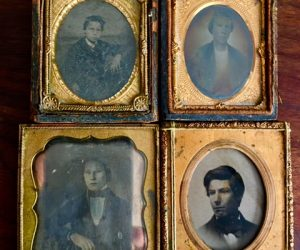Set of 4 Antique Daguerreotypes