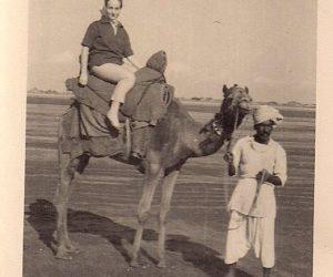 Vintage Photograph Woman & Camel