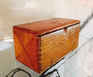 Vintage Wooden Coin Box